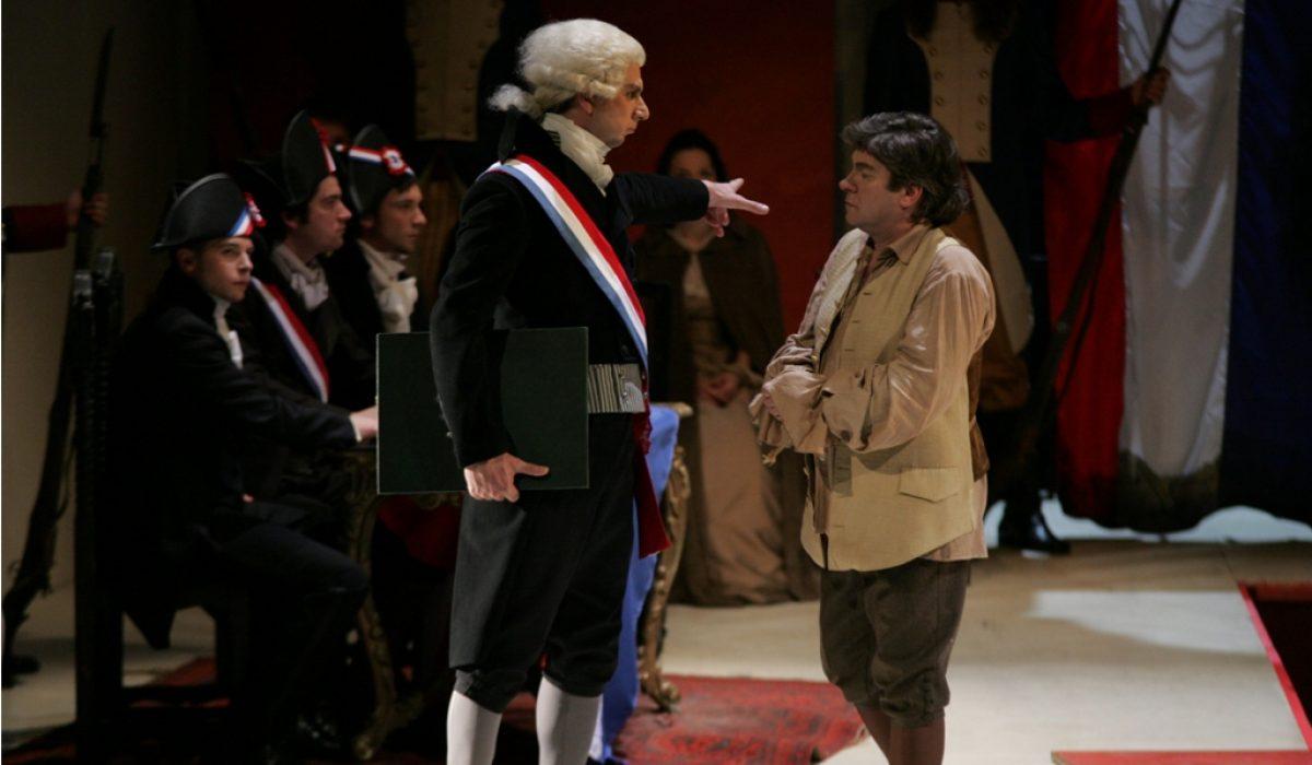 Robert Vrcon (Fouquier Tinville) in Branko Robinšak (Andre Chénier)